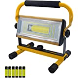 UNIKOO Portable 100W LED Work Light Rechargeable Flood Light for Outdoor Camping Fishing Garage Repairing (W830)
