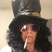 Amazon.com: Slash rizado Rocker peluca con el sombrero ...