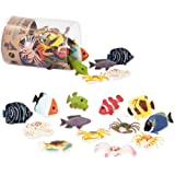 Terra by Battat – Tropical Fish World – Assorted Miniature Sea Animals, Toy Fish, & Tropical Fish Toys for Toddlers 3 & Up (6