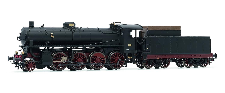 Rivarossi HR2459 Dampflokomotive Reihe 744 Caprotti der FS Modellbahn, Schwarz/Rot