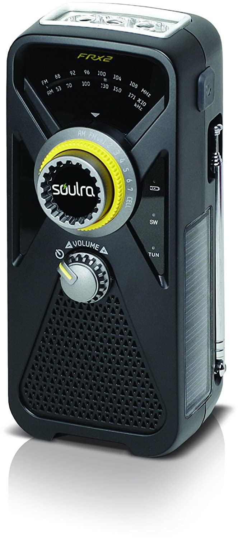 Noir  SOULRA - FRX5 Radios d'extérieure multi-énergie – Noir gris