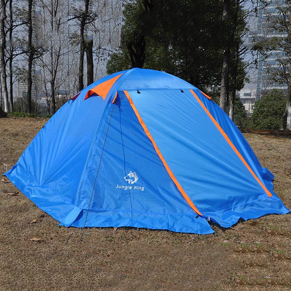 AYUE® Outdoor Instant Doppeltes Popup-Kuppelzelt - Einfaches, Automatisches Setup - Idealer Schutz Für Zwanglose Familienwanderungen,Blau