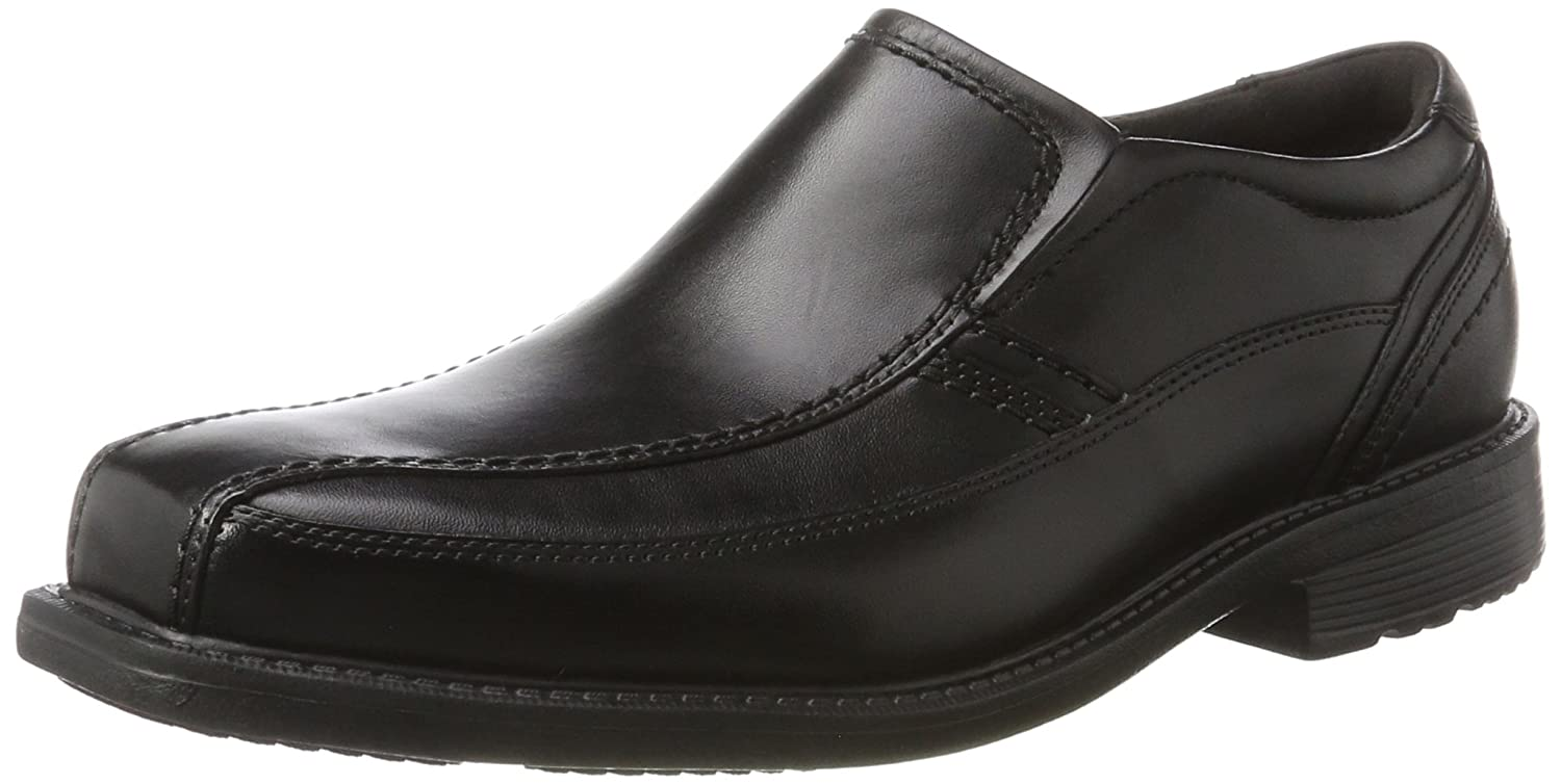 Rockport Style Leader 2 Bike Toe Slip On, Mocasines para Hombre 43 EU|Negro (Black)