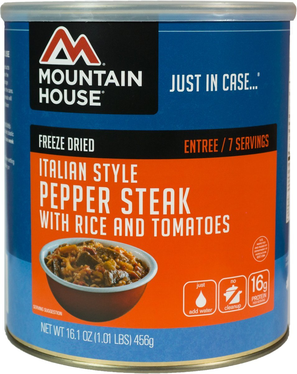 Mountain House Italian Style Pepper Steak #10 Can by Mountain House