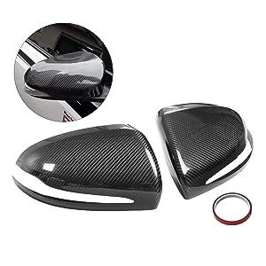 Mophorn Carbon Fiber Mirror Covers Alfa Romeo Giulia Quadrifoglio Side Rear View Mirror 2017-20118 Carbon Fiber Side Mirror Cover Caps Cover For Alfa Romeo Giulia Quadrifoglio 2017-2018