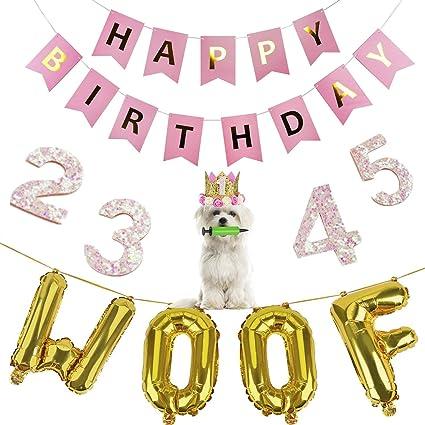 Legendog Dog Birthday Party Supplies, Dog Girl or Boy Birthday Party Decorations, Dog Birthday Hat, Happy Dog Birthday Party Decorations