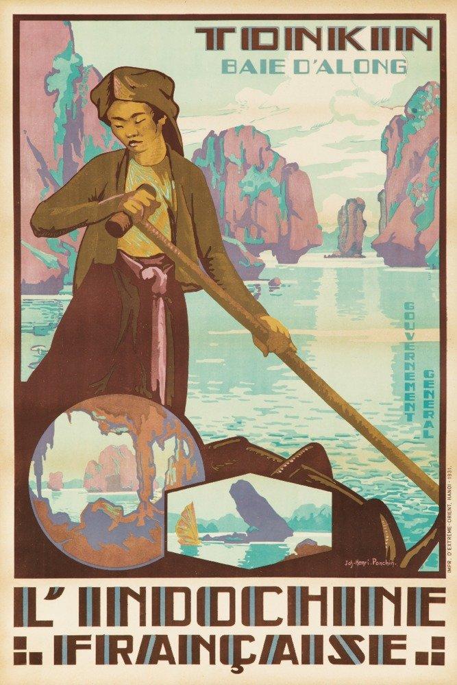 L 'indochine Francaise – Tonkin – Baie d 'alongposter (アーティスト: Jos Henri ponchin )ベトナムC。1931 12 x 18 Art Print LANT-64107-12x18 B017Z78EYY 12 x 18 Art Print12 x 18 Art Print
