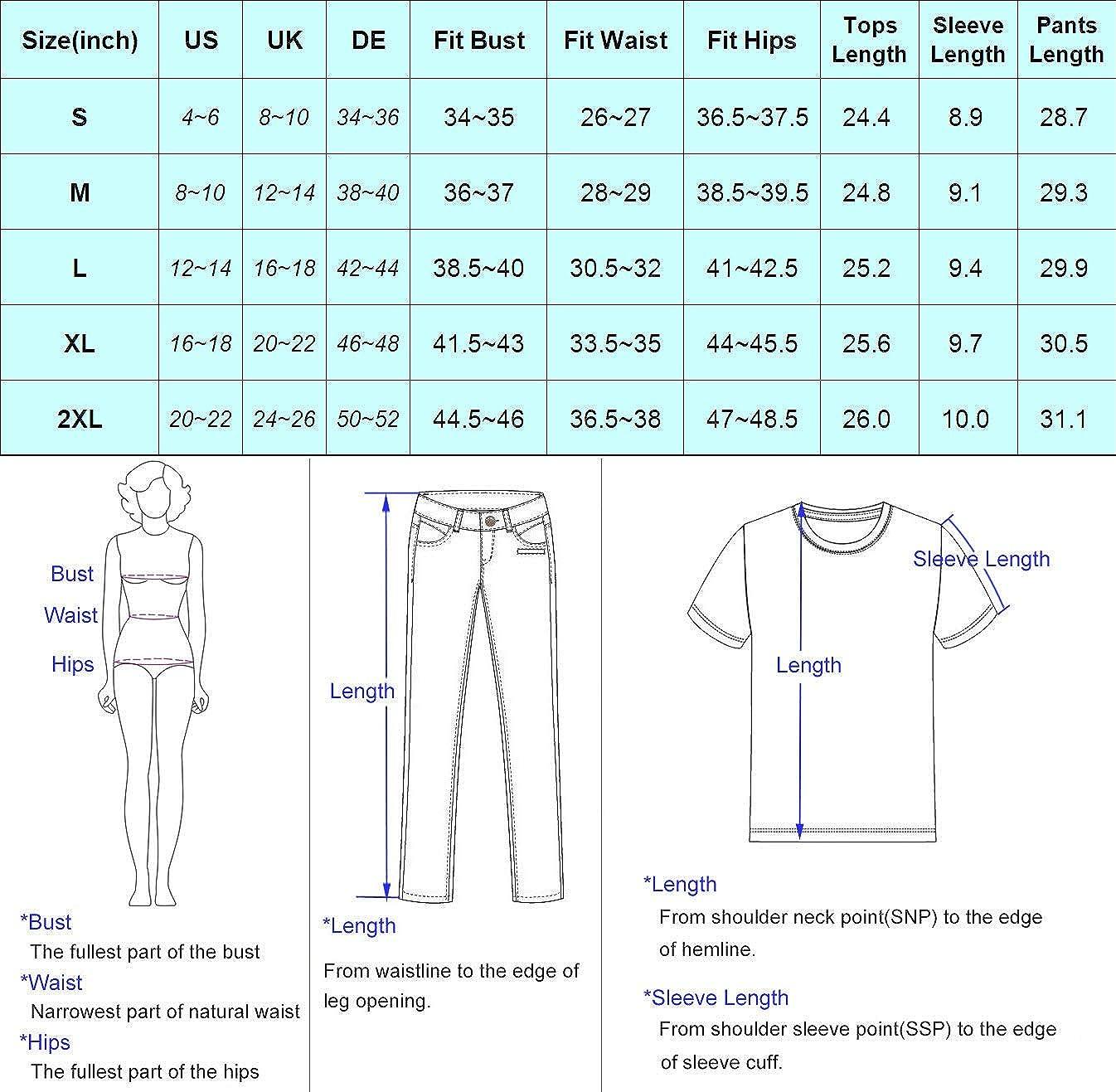 Zexxxy Short da Donna con Pigiama Set Loungewear a Maniche Corte Top e Cartoni Animati con Stampa Pj Set