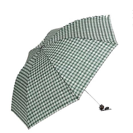 LybCvad paraguas Rejilla de damas plegable de acero para caballero Rejilla de sombrilla británica durable paraguas