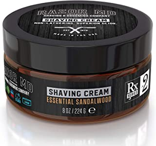 product image for Razor MD Rx Shave Cream, Essential Sandalwood (8 Oz, Normal to Slightly Oily Skin) - Shaving Tools & Accessories for The Modern Man