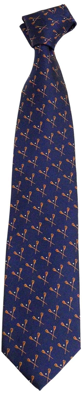 NCAA Mens Syracuse Orange Lacrosse Necktie Blue//Orange