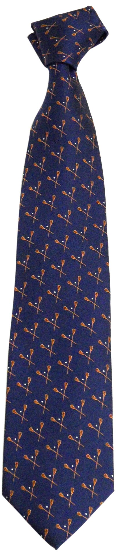 NCAA Men's Syracuse Orange Lacrosse Necktie, Blue/Orange
