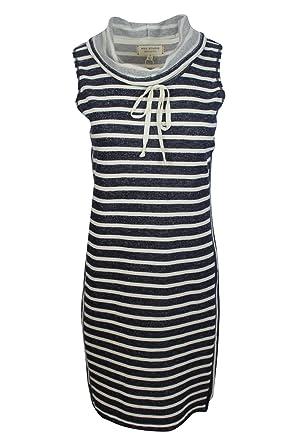 fc59d4ec5b95b Max Studio Women s Blue White Striped Casual Sporty Jersey Shift Dress