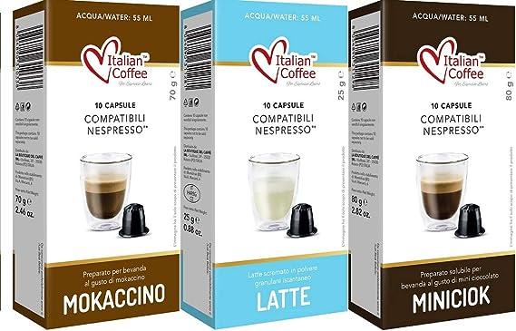 60 Capsulas Nespresso Chocolate - Degustacion de 2 Sabores de Chocolate con Leche - Compatibles con Cafeteras Nespresso*: Amazon.es: Alimentación y bebidas