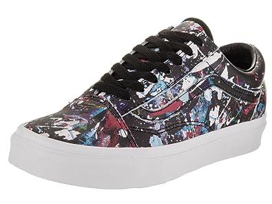 fd72729605 Vans Unisex Old Skool (Paint Splatter) Blk Trwht Skate Shoe 4 Men US