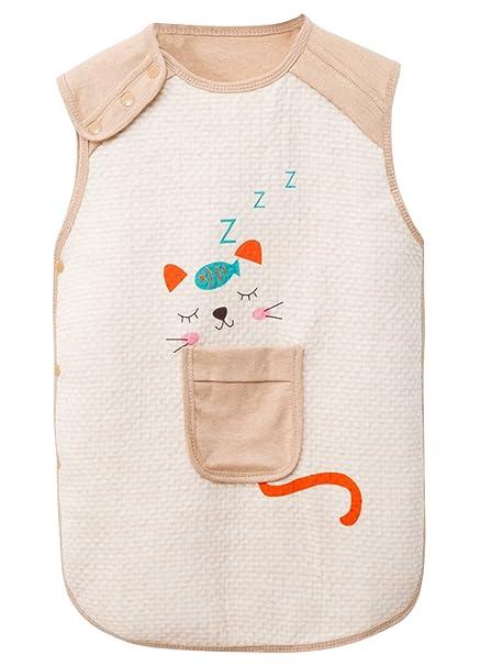 FEOYA Bebé Saco de Dormir Verano Algodón Transpirable Dibujo Gato para Bebé Niño Unisex: Amazon.es: Ropa y accesorios