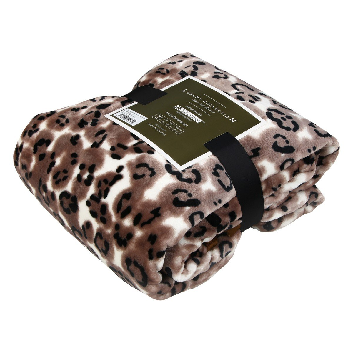 Luxury Collection Ultra Soft Plush Fleece Lightweight All-Season Throw/Bed Blanket (Twin, Legend Leopard)