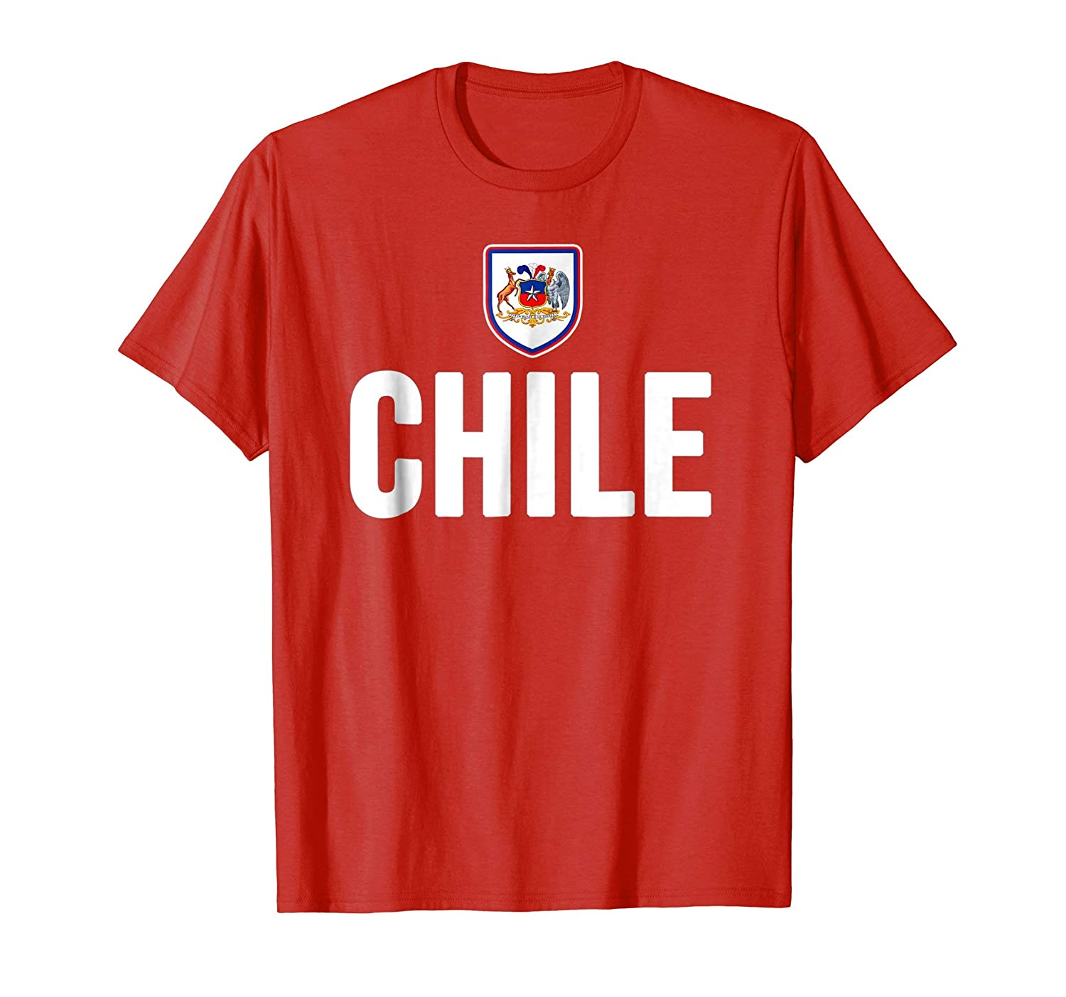 Amazon.com: Chile T-shirt Chilean Flag Soccer Futbol Fan Jersey: Clothing