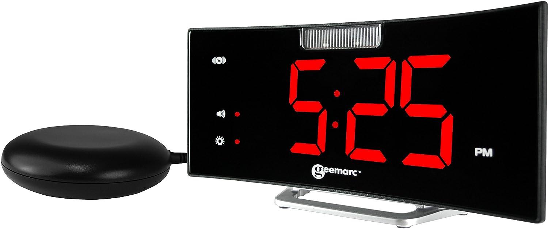 Geemarc Wake`n' Shake Star Alarm Clock with Extra Loud Alarm and Powerful Shaker Pad- UK Version Geemarc Telecom SA JWNS-STAR_WH