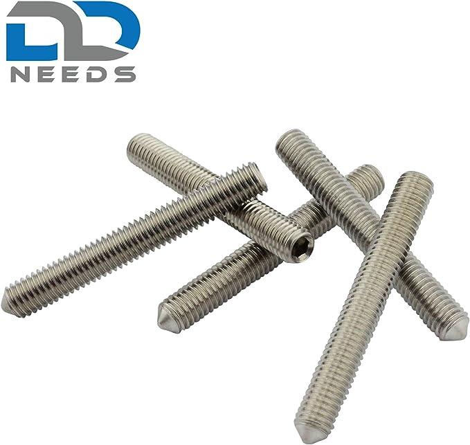 D2D Gr/ö/ße: M8 x 35 mm Madenschrauben nach DIN 913 mit Innensechskant und Kegelkuppe aus Edelstahl A2 // V2A ISK VPE: 10 St/ück Gewindestifte