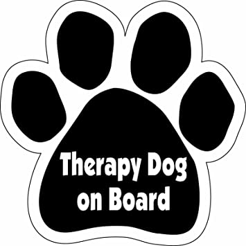 Well-liked Amazon.com: Imagine This Paw Car Magnet, Therapy Dog on Board, 5-1  BB31