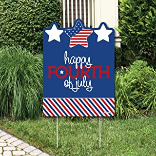 product image for Big Dot of Happiness 4th of July - Independence Day Party Decorations - Happy Fourth of July Yard Sign