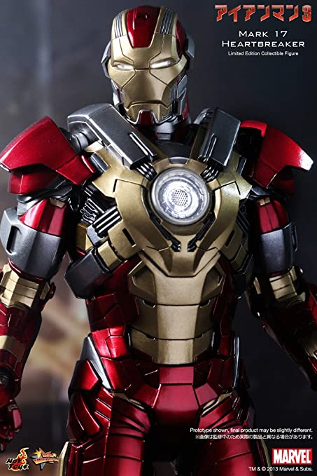 Marvelous Amazon.com: Hot Toys Iron Man 3 Movie Masterpiece Iron Man Mark 17  Heartbreaker Collectible Figure: Toys U0026 Games