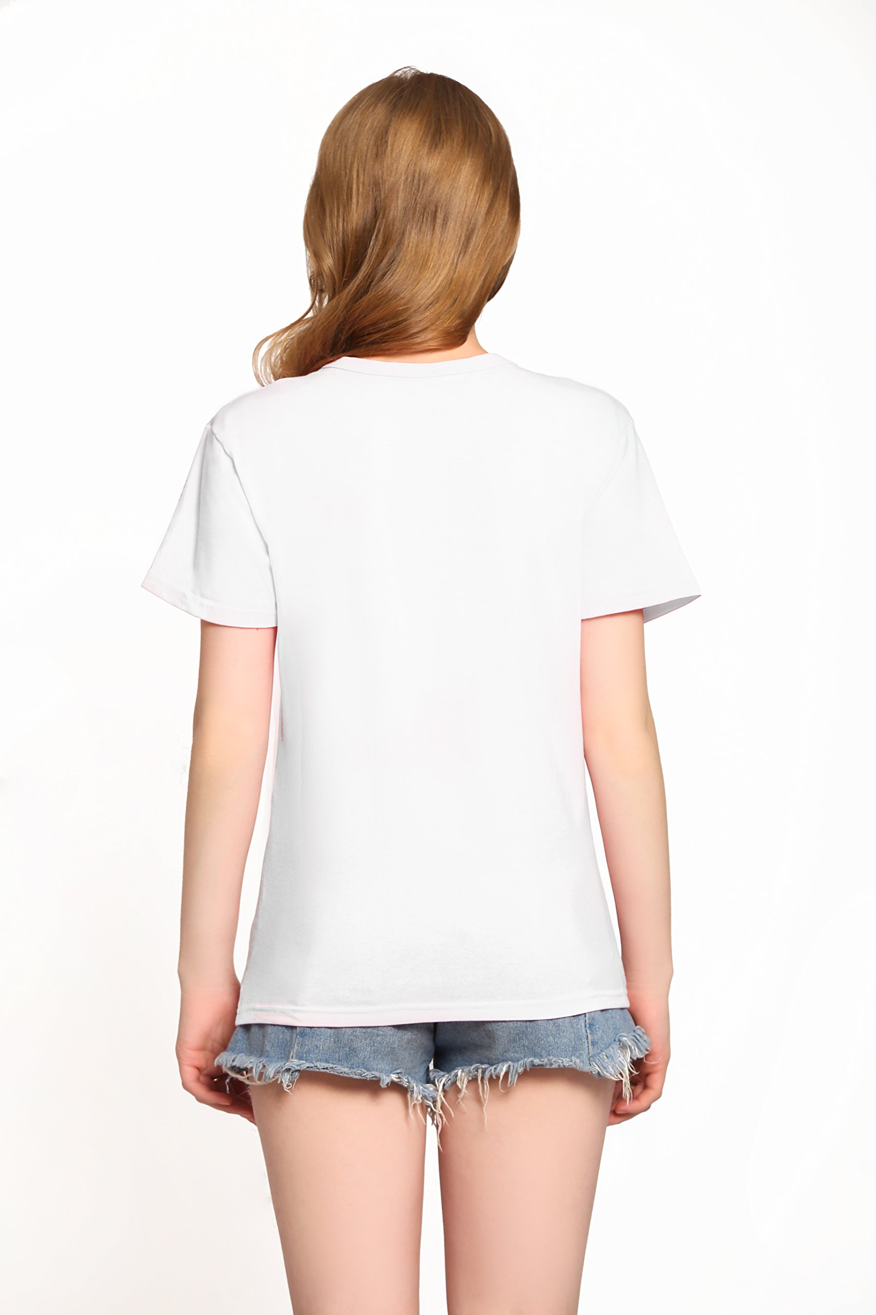 PINJIA Womens Cotton Letter Printed Pullover Tshirts Top Tees(MX15)(XXL,White Bitches Switch)