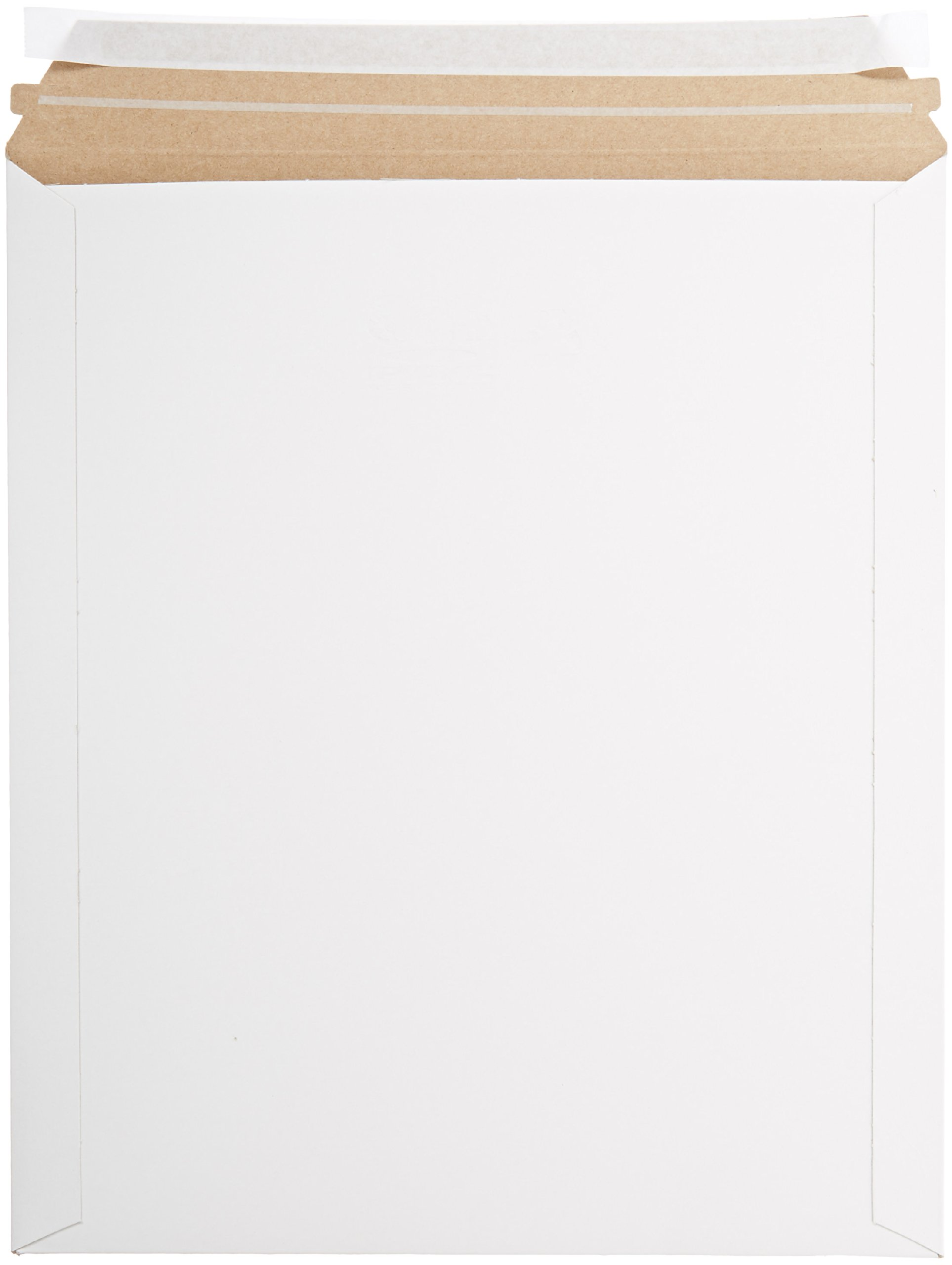 Pratt MJ-6 Self-Seal Stay Flat Mailer, White, 12.75'' x 15'' (Pack of 100)