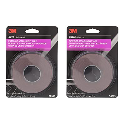 "3M 38583 1/4"" x 15' Exterior Attachment Tape (2 Pack): Automotive"