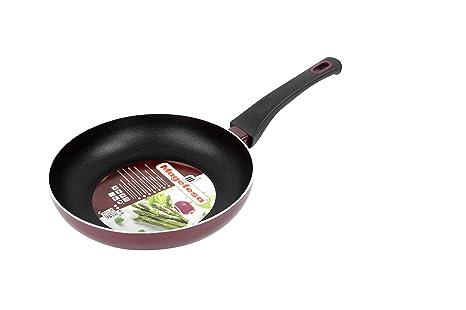 Magefesa Korinto Sartén 20 cm de Aluminio con Antiadherente bicapa, Color Vino Exterior. Apta para Todo Tipo de cocinas, incluida inducción, ...