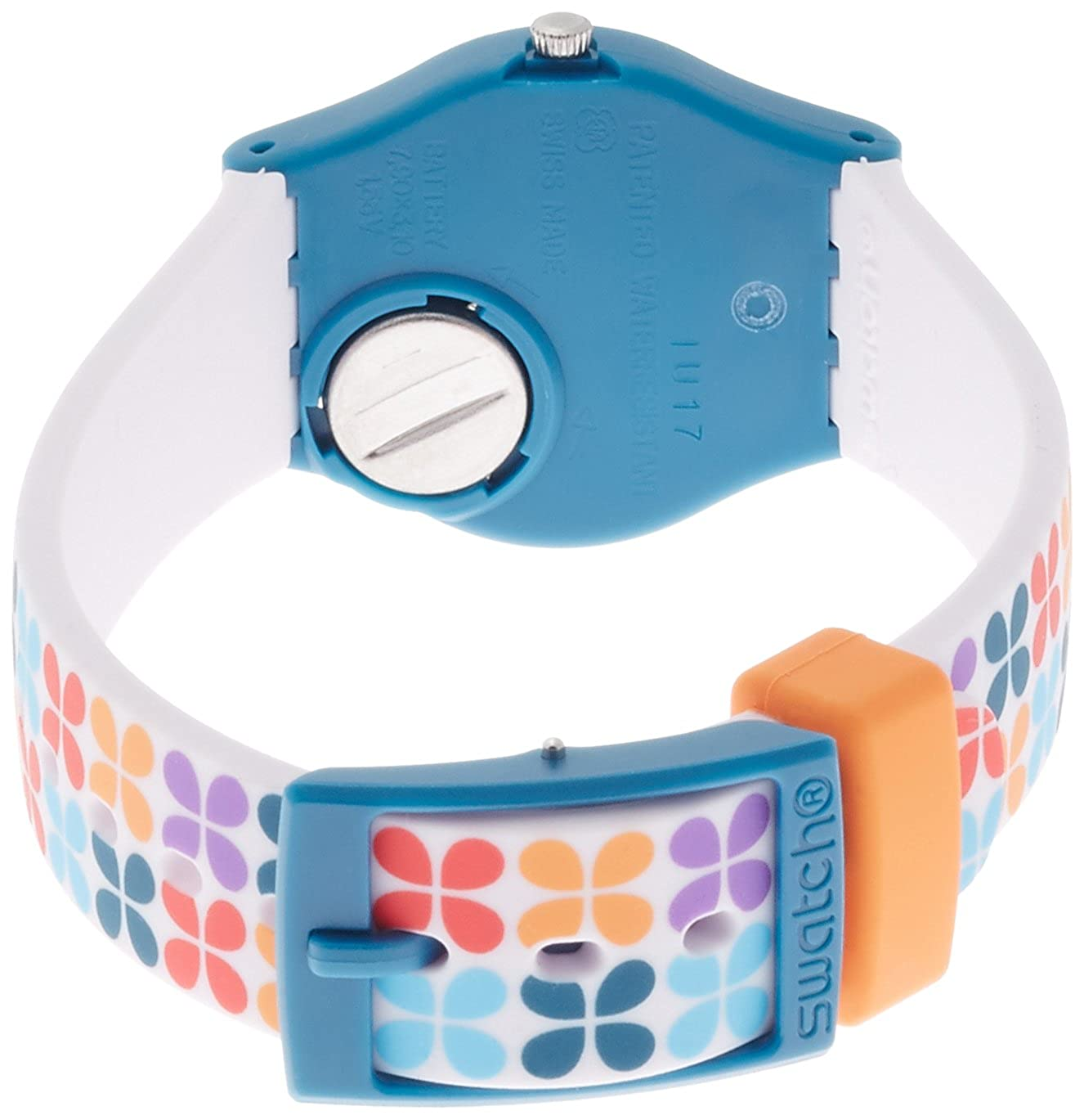 Amazon.com: Swatch Womens Paseo de Gracia Multicolored Plastic and Silicone Watch LN151: Watches