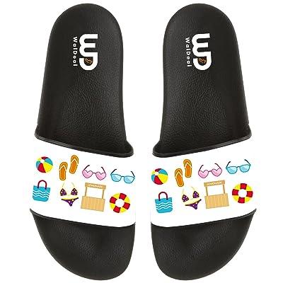 In Summer Non-slip Slide Sandals Home Shoes Beach Swim Flip Flops Indoor and Outdoor Slipper Women Men