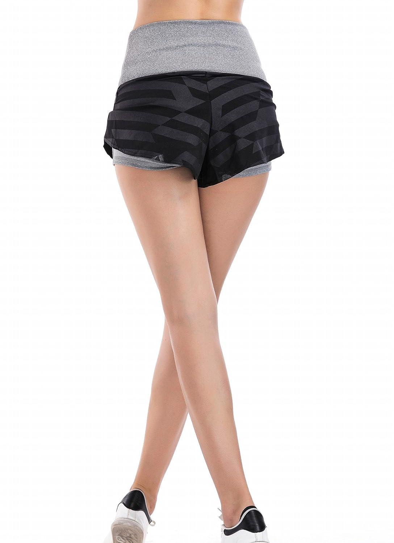 Cody Lundin Shorts Deportivos De Las Mujeres Elasticity Cintura Running Fitness Shorts for Ladies Yoga Shorts