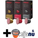 ネスプレッソ マシーン用 キンボ コーヒー 互換 カプセル 3種 各1箱 3箱セット エスプレッソの本場、イタリアのナポリからついに登場。洗浄剤(カフェニュ)1コ付き