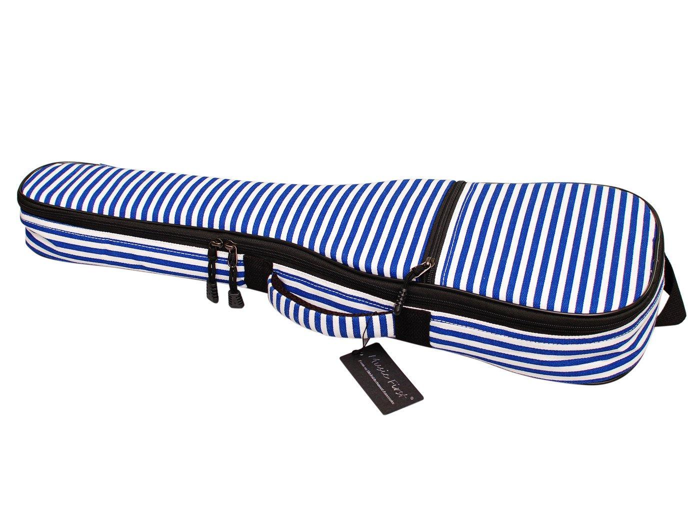 MUSIC FIRST Hand Portable 23'' Concert Cotton Canvas Blue Sailor's Striped Ukulele Bag Ukulele Cover Ukulele Case V2.0 by MUSIC FIRST (Image #4)
