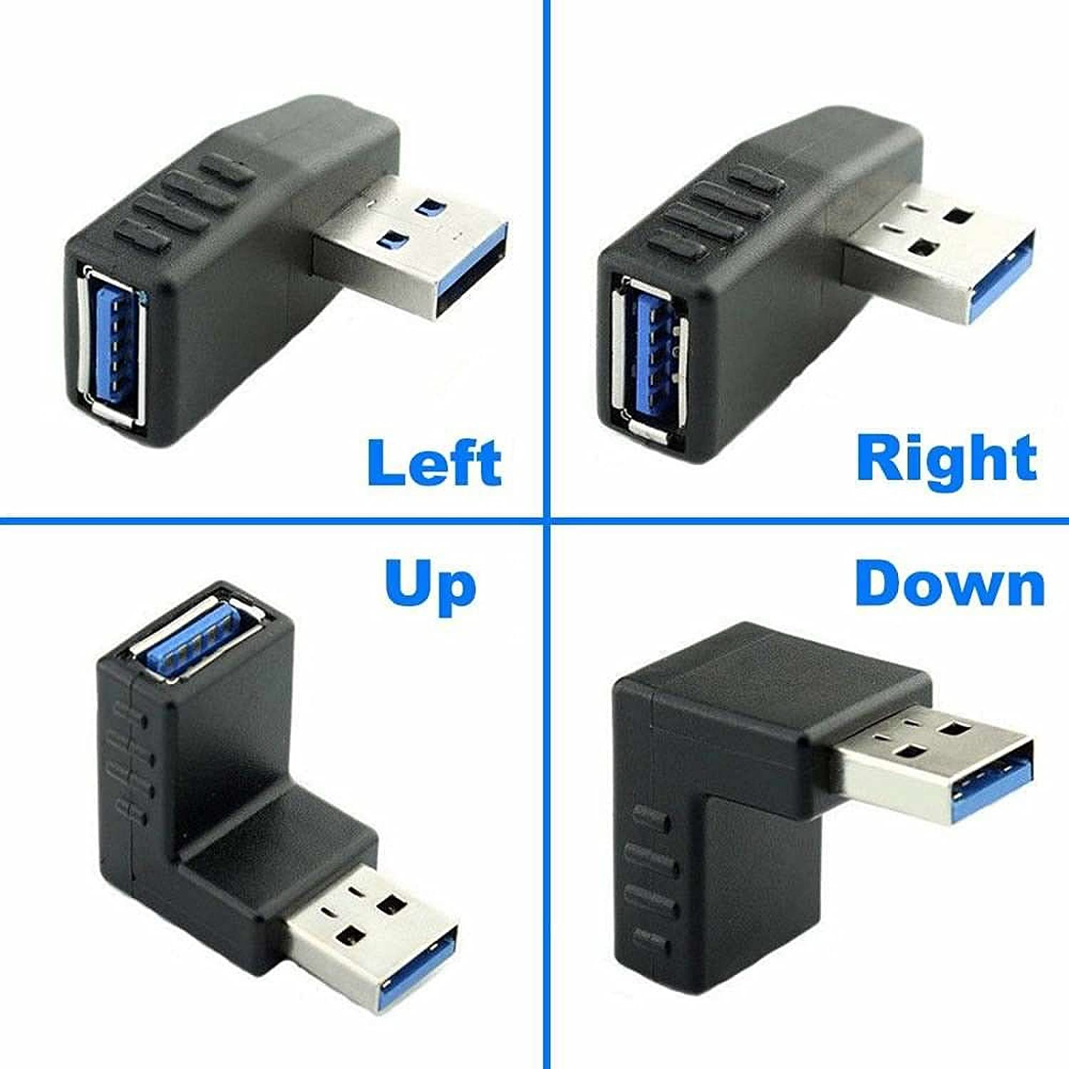 90/° USB Extension Adapter YANSHG USB 3.0 Male to Female 90 Degrees Converter Adapter up//Down//Left//Right