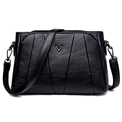 2e13246c04d7e2 Sanxiner Women's Crossbody Bag Classic Purse Clutches Bags Shoulder Handbags  (A-Black)