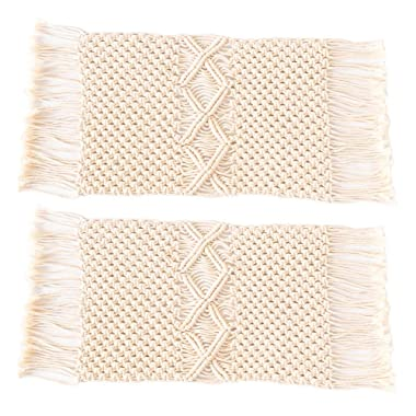 Pantaknot 2 Packs Macrame Table Runner Wedding Dining Bohemian Home Décor Gift, 11 x 25 inch