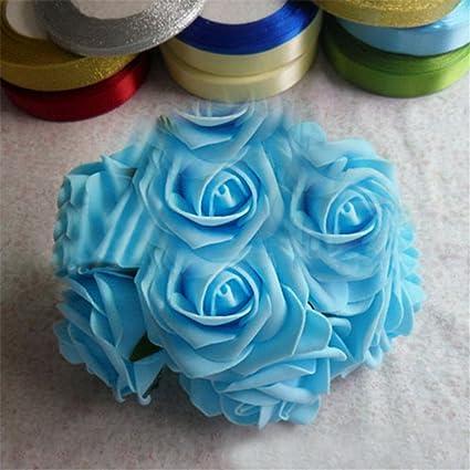 Artificial Rose Hanging Flower Wedding Decorations Silk Ball Centerpieces Mint