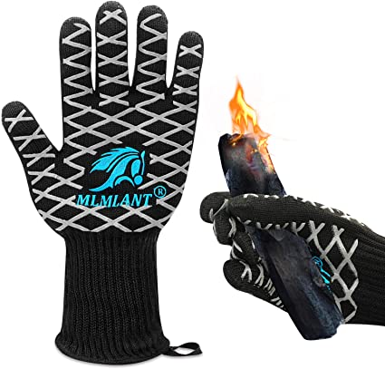 1Pairs Heat Resistant Gloves Oven Hot Grilling BBQ Mitts Cooking Extreme Kitchen