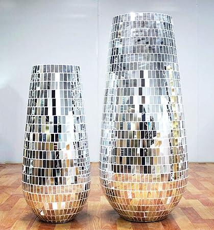 5 mm por 5 mm Meboom 2400 piezas autoadhesivas Craft espejos mosaico azulejos Mini plata cuadrado vidrio adhesivo