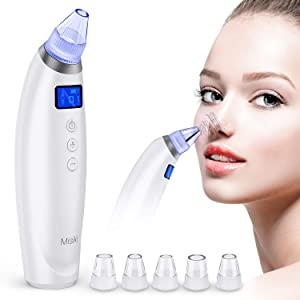 Blackhead Remover Vacuum Pore Cleaner Comedone Extractor Rechargeable Electric Beauty Vacuum Blackhead Cleaning Removal Tool with 6 Adjustable Suction Large LCD Display for Blackhead Acne Whitehead