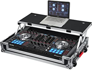 Gator Cases G-TOUR Series DJ Controller Road Case with Sliding Laptop Platform - Custom Fit for Pioneer DDJ-SX and DDJ-RX; (G-TOURDSPDDJSXRX)