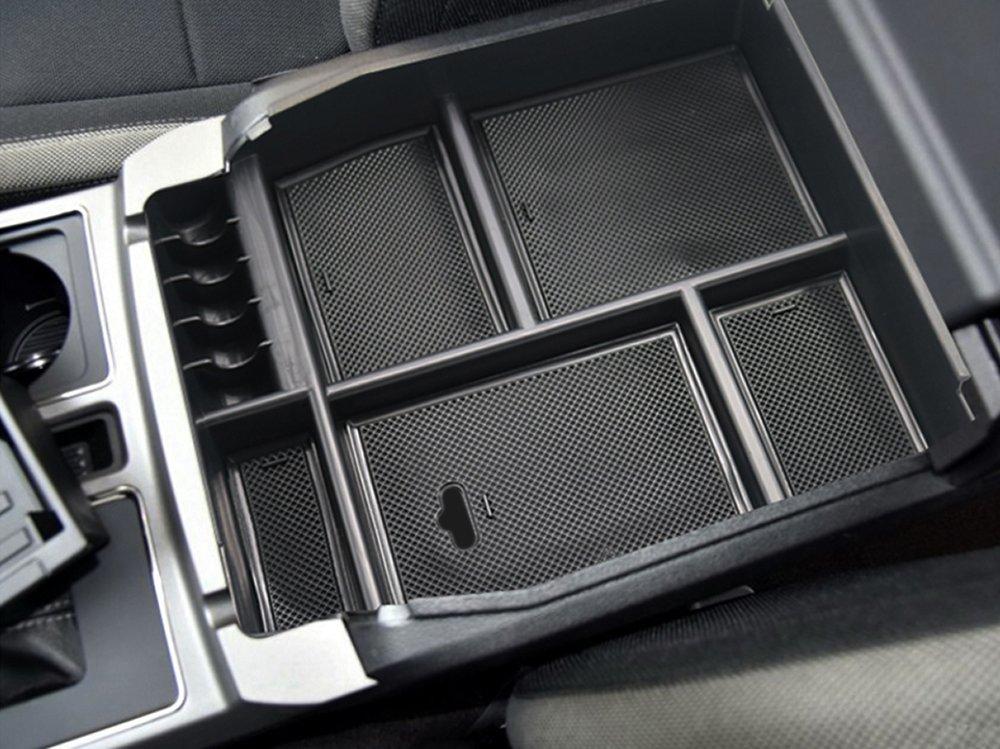 POZEL Center Console Insert Organizer Tray for Ford F150 F-15 2015 2016 2017