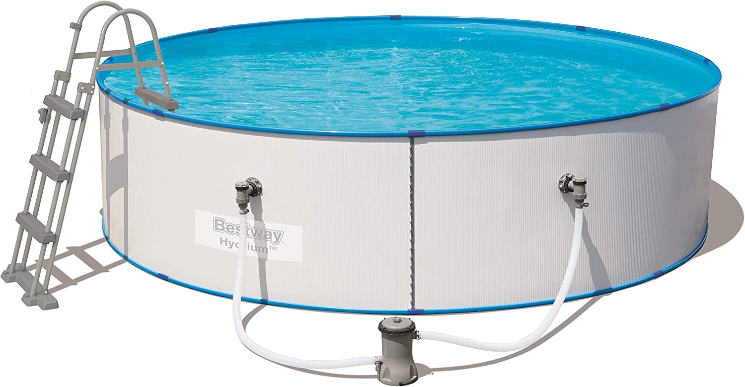 Bestway 56377 hydrium Splasher Pool Set ø360 X 90 cm, Acero Pared ...