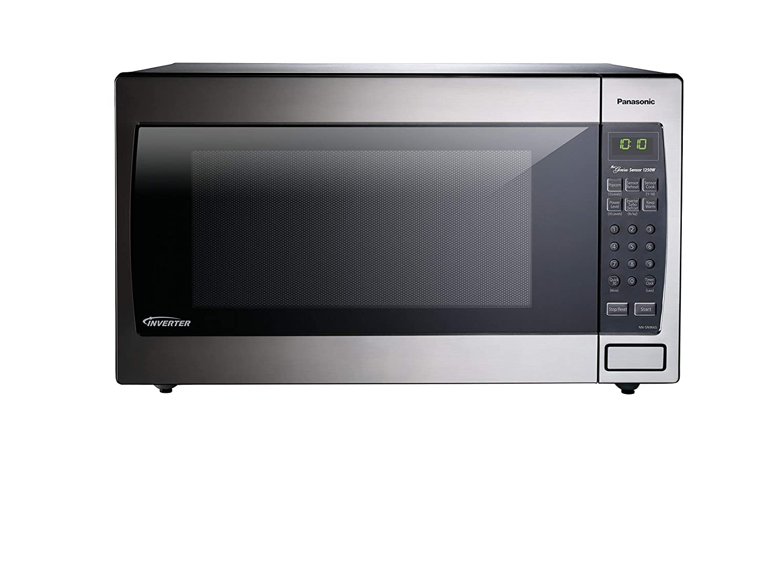 Panasonic Microwave Oven NN-SN966S Stainless Steel Countertop Built-In with Inverter Technology and Genius Sensor, 2.2 Cu. Ft, 1250W Renewed