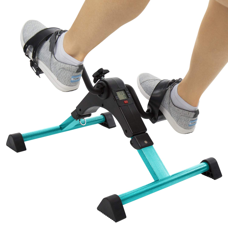 Vive Desk Cycle – Foot Pedal Exerciser – Foldable Portable Foot, Hand, Arm, Leg Exercise Pedaling Machine – Folding Mini Stationary Bike Pedaler, Fitness Rehab Gym Equipment for Seniors, Elderly, PT