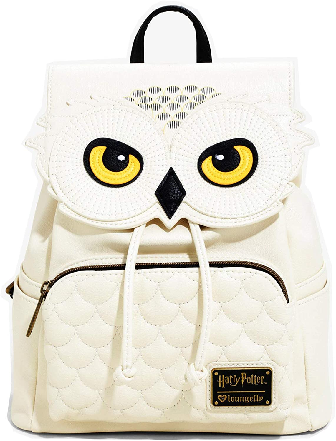 Loungefly Harry Potter Hedwig Faux Leather Mini Backpack Standard, Beige
