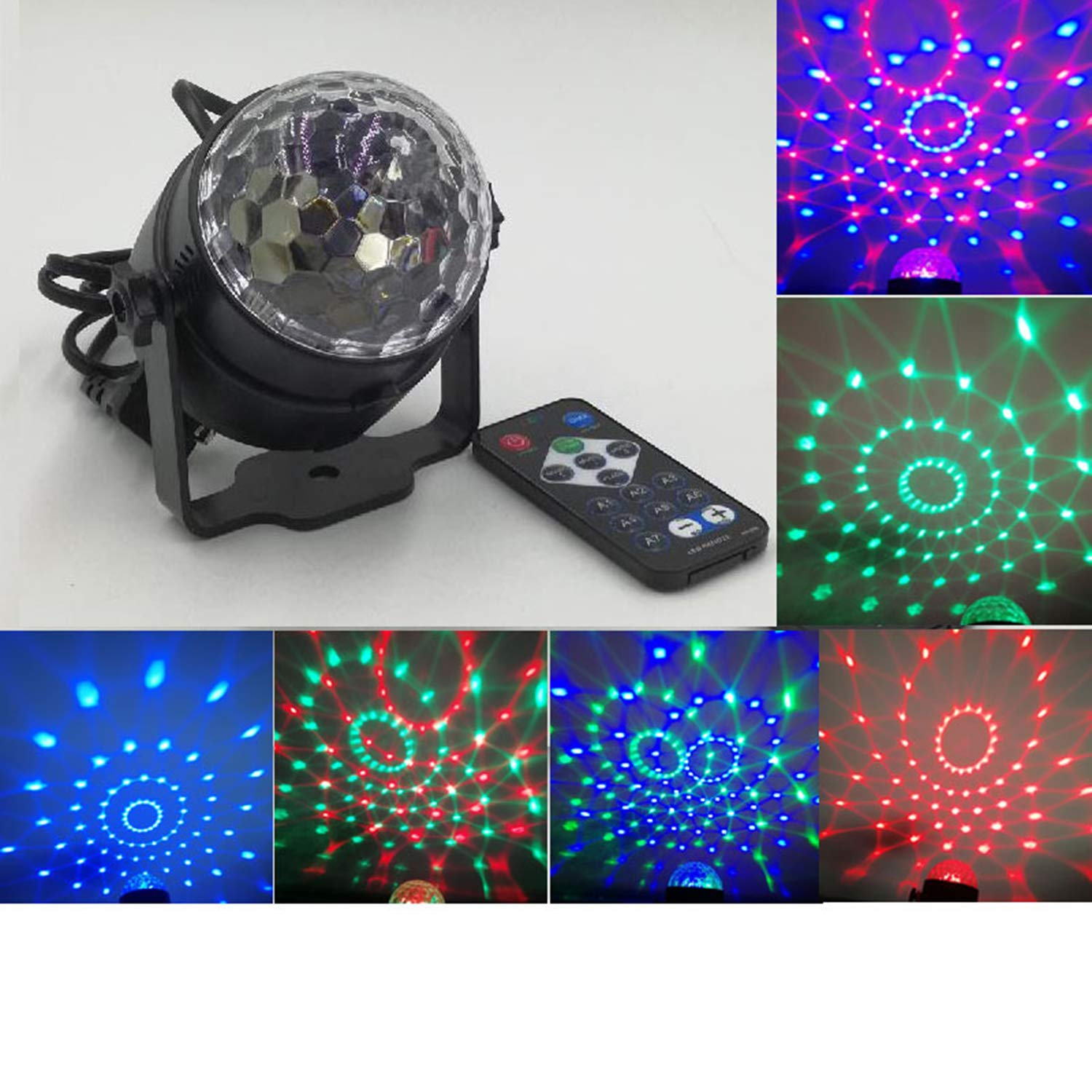 colorful Led Projection Lamp, Outdoor Crystal Decorative Stage Light, Led Voice Control redating with Remote Control Christmas Flash